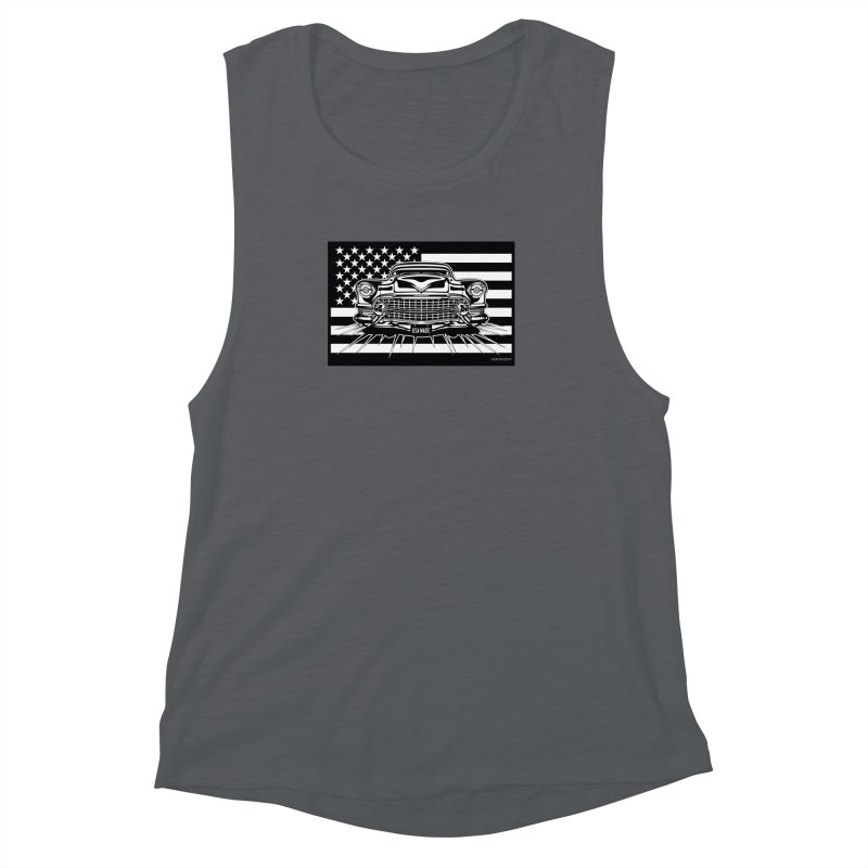 USA MADE Women's Muscle Tank by Max Grundy Design's Artist Shop