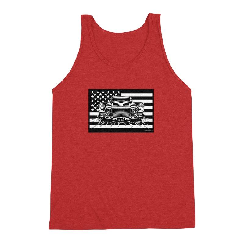 USA MADE Men's Triblend Tank by Max Grundy Design's Artist Shop