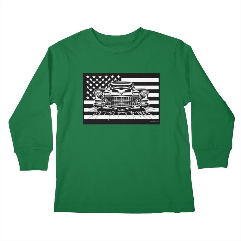 USA MADE Kids Longsleeve T-Shirt by Max Grundy Design's Artist Shop