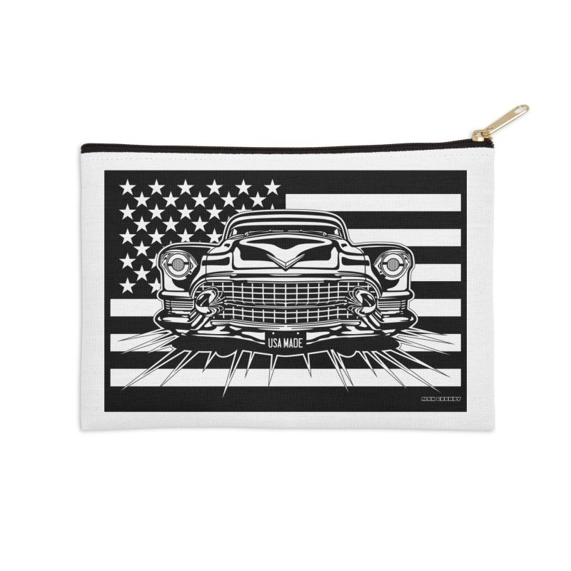 USA MADE Accessories Zip Pouch by Max Grundy Design's Artist Shop