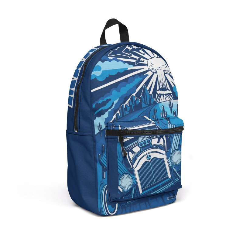 ESCAPE FROM L.A. (blue) Accessories Backpack Bag by Max Grundy Design's Artist Shop