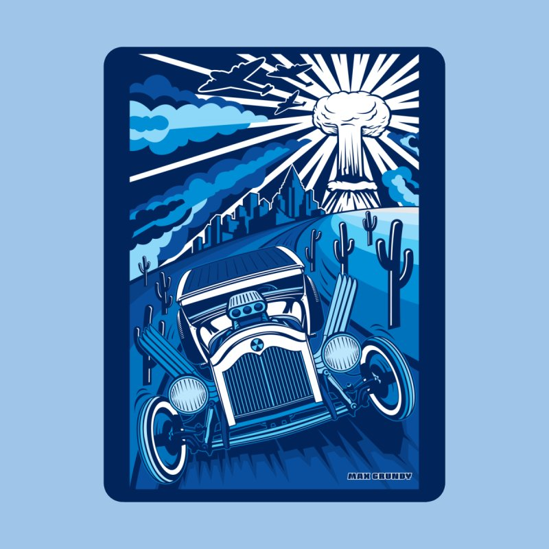 ESCAPE FROM L.A. (blue) Accessories Magnet by Max Grundy Design's Artist Shop