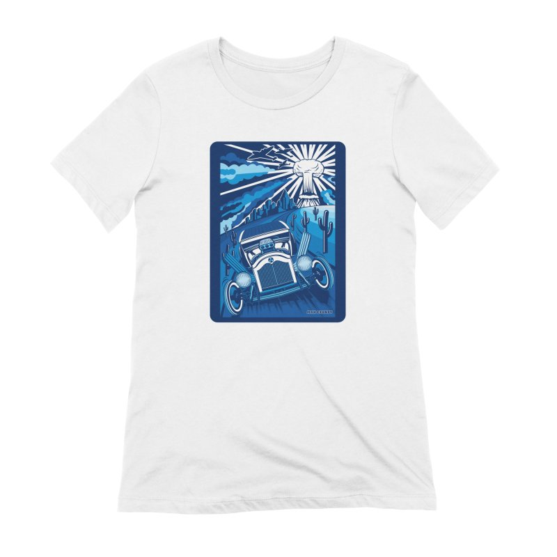 ESCAPE FROM L.A. (blue) Women's Extra Soft T-Shirt by Max Grundy Design's Artist Shop