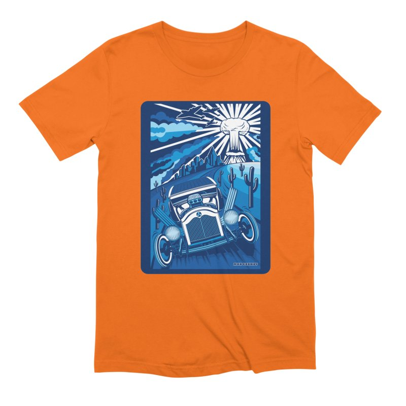ESCAPE FROM L.A. (blue) Men's Extra Soft T-Shirt by Max Grundy Design's Artist Shop
