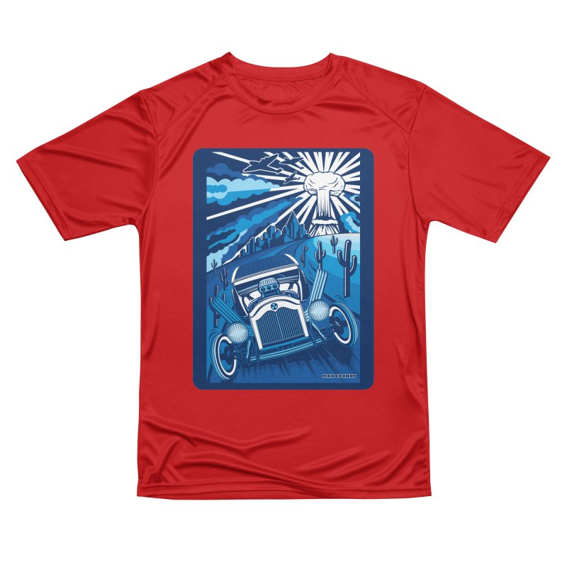 ESCAPE FROM L.A. (blue) Men's Performance T-Shirt by Max Grundy Design's Artist Shop