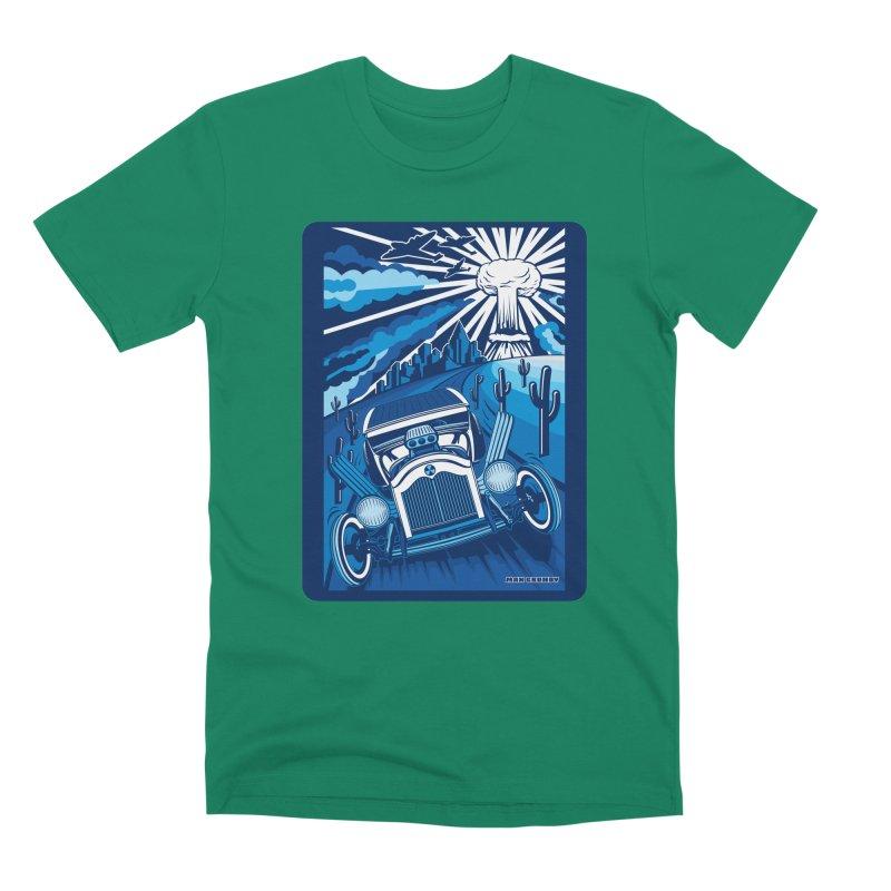 ESCAPE FROM L.A. (blue) Men's Premium T-Shirt by Max Grundy Design's Artist Shop