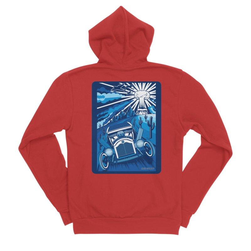 ESCAPE FROM L.A. (blue) Women's Sponge Fleece Zip-Up Hoody by Max Grundy Design's Artist Shop