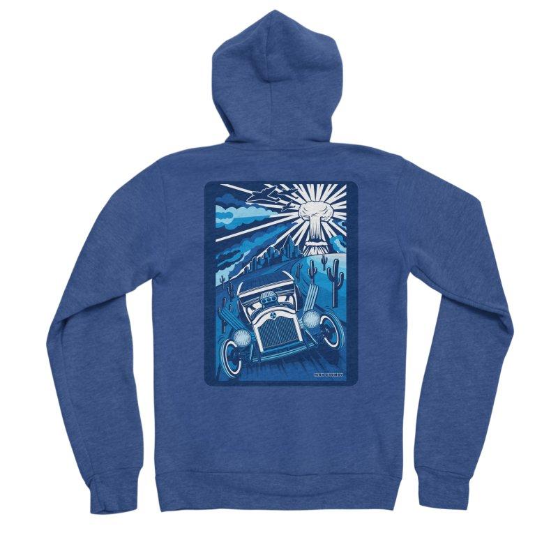 ESCAPE FROM L.A. (blue) Men's Sponge Fleece Zip-Up Hoody by Max Grundy Design's Artist Shop