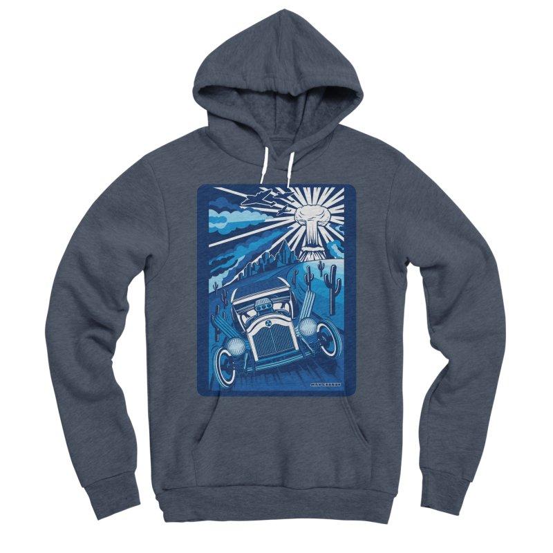 ESCAPE FROM L.A. (blue) Men's Sponge Fleece Pullover Hoody by Max Grundy Design's Artist Shop