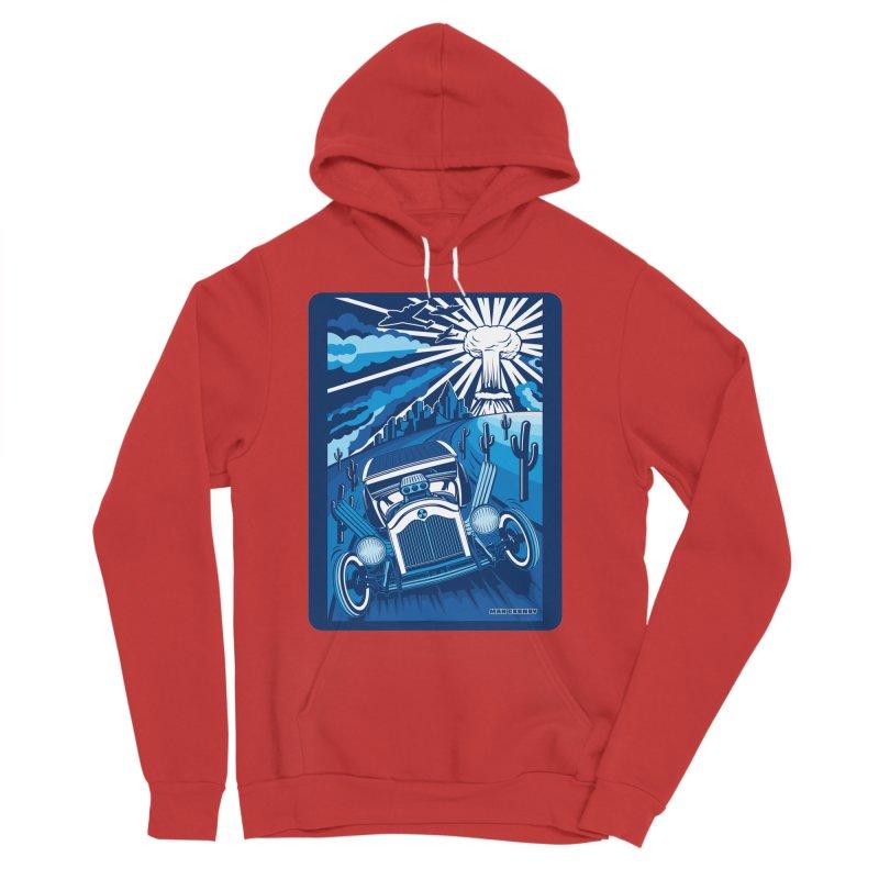 ESCAPE FROM L.A. (blue) Women's Sponge Fleece Pullover Hoody by Max Grundy Design's Artist Shop