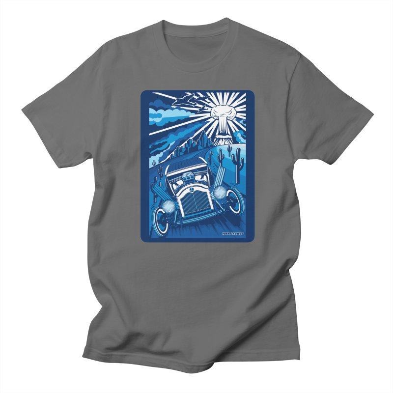 ESCAPE FROM L.A. (blue) Men's T-Shirt by Max Grundy Design's Artist Shop
