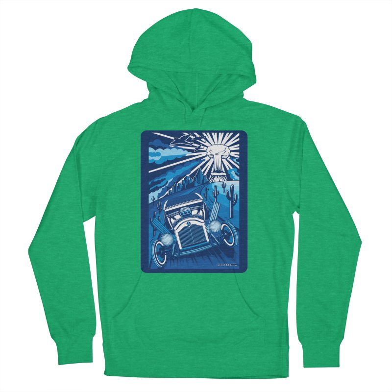 ESCAPE FROM L.A. (blue) Women's French Terry Pullover Hoody by Max Grundy Design's Artist Shop