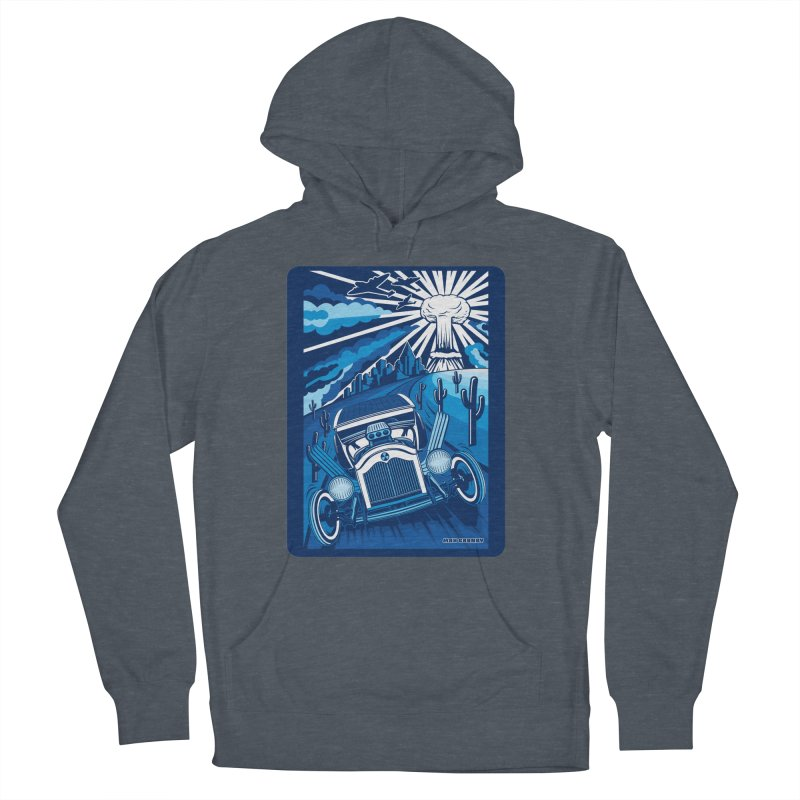 ESCAPE FROM L.A. (blue) Men's French Terry Pullover Hoody by Max Grundy Design's Artist Shop