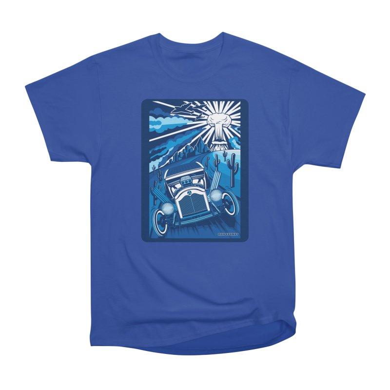 ESCAPE FROM L.A. (blue) Women's Heavyweight Unisex T-Shirt by Max Grundy Design's Artist Shop