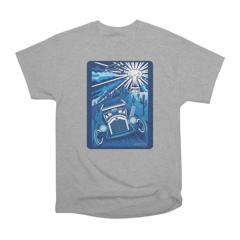 ESCAPE FROM L.A. (blue) Men's Heavyweight T-Shirt by Max Grundy Design's Artist Shop