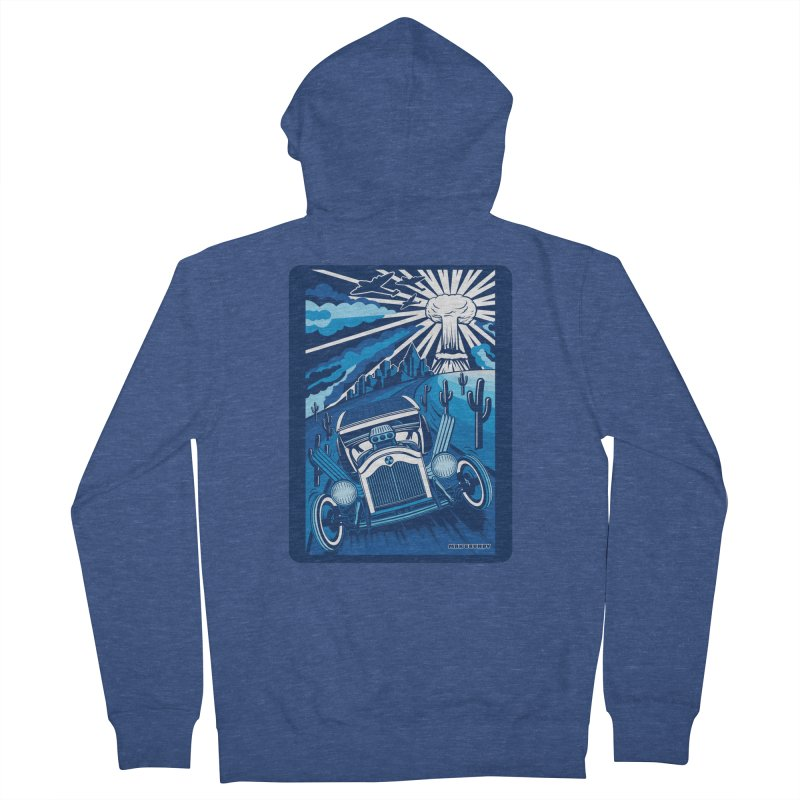ESCAPE FROM L.A. (blue) Women's French Terry Zip-Up Hoody by Max Grundy Design's Artist Shop