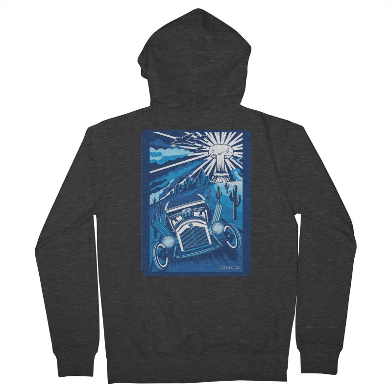 ESCAPE FROM L.A. (blue) Men's French Terry Zip-Up Hoody by Max Grundy Design's Artist Shop