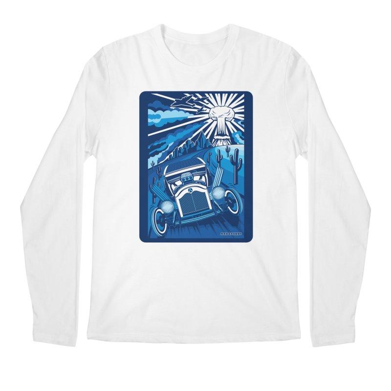 ESCAPE FROM L.A. (blue) Men's Regular Longsleeve T-Shirt by Max Grundy Design's Artist Shop