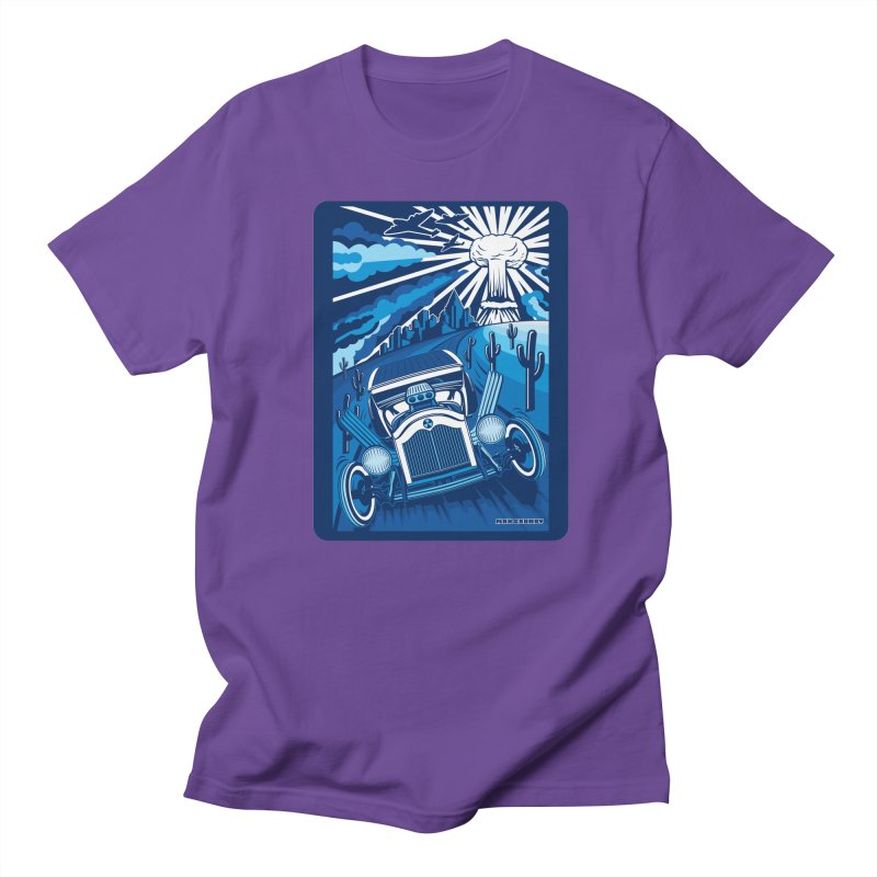 ESCAPE FROM L.A. (blue) Men's Regular T-Shirt by Max Grundy Design's Artist Shop