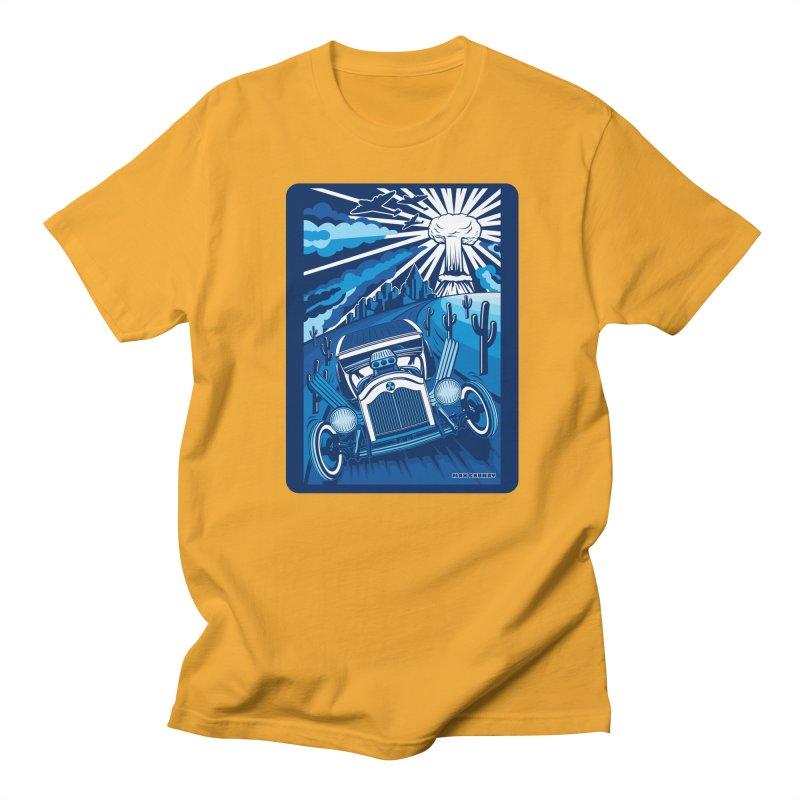 ESCAPE FROM L.A. (blue) Women's Regular Unisex T-Shirt by Max Grundy Design's Artist Shop