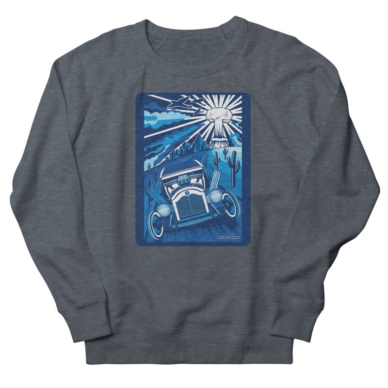 ESCAPE FROM L.A. (blue) Women's French Terry Sweatshirt by Max Grundy Design's Artist Shop