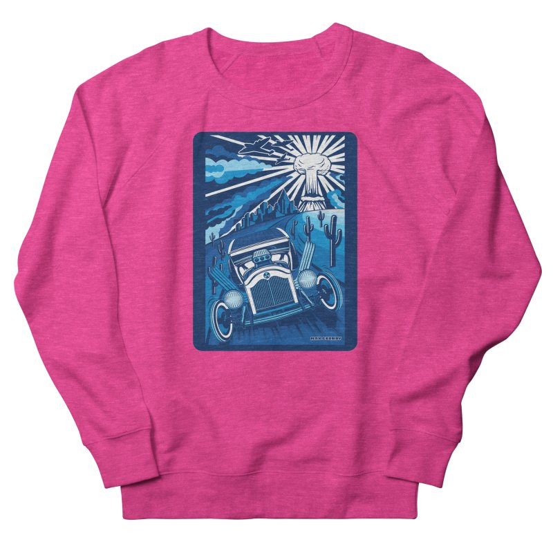 ESCAPE FROM L.A. (blue) Men's French Terry Sweatshirt by Max Grundy Design's Artist Shop