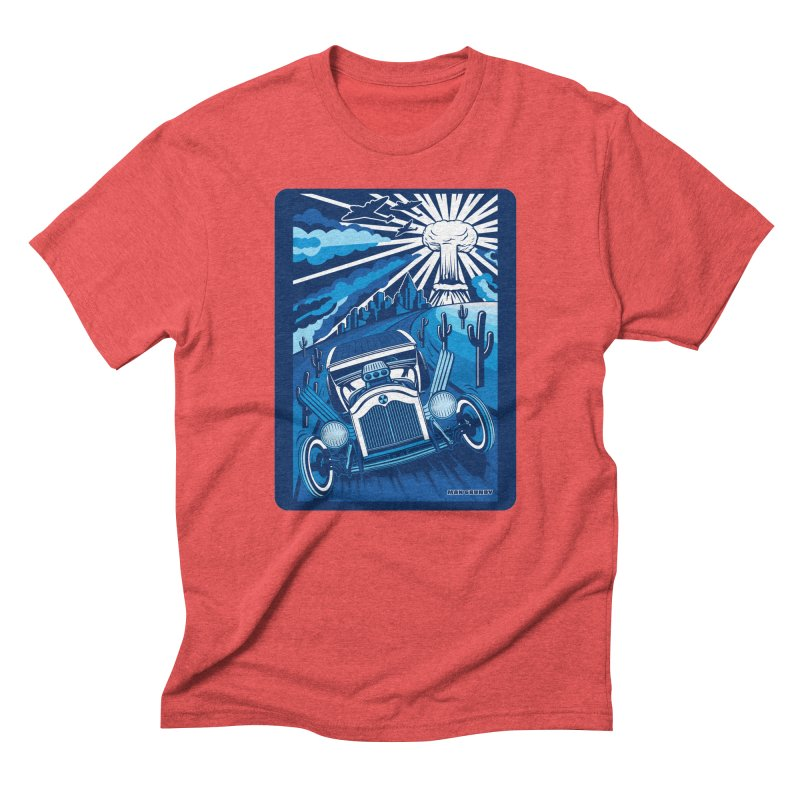 ESCAPE FROM L.A. (blue) Men's Triblend T-Shirt by Max Grundy Design's Artist Shop