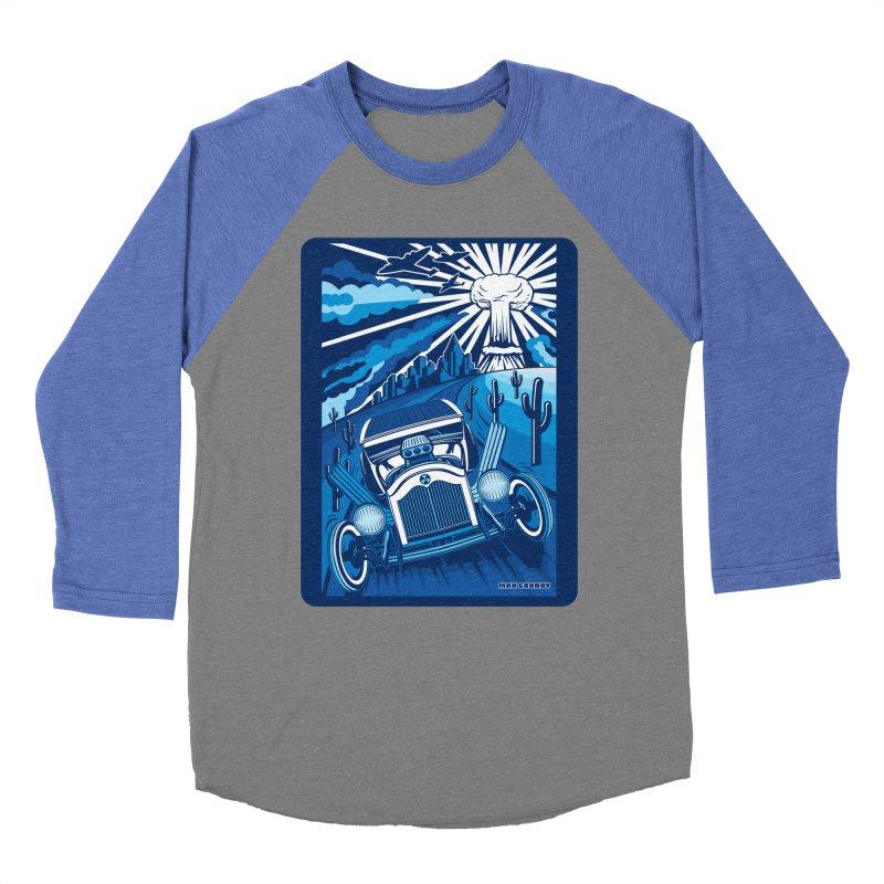 ESCAPE FROM L.A. (blue) Women's Baseball Triblend Longsleeve T-Shirt by Max Grundy Design's Artist Shop