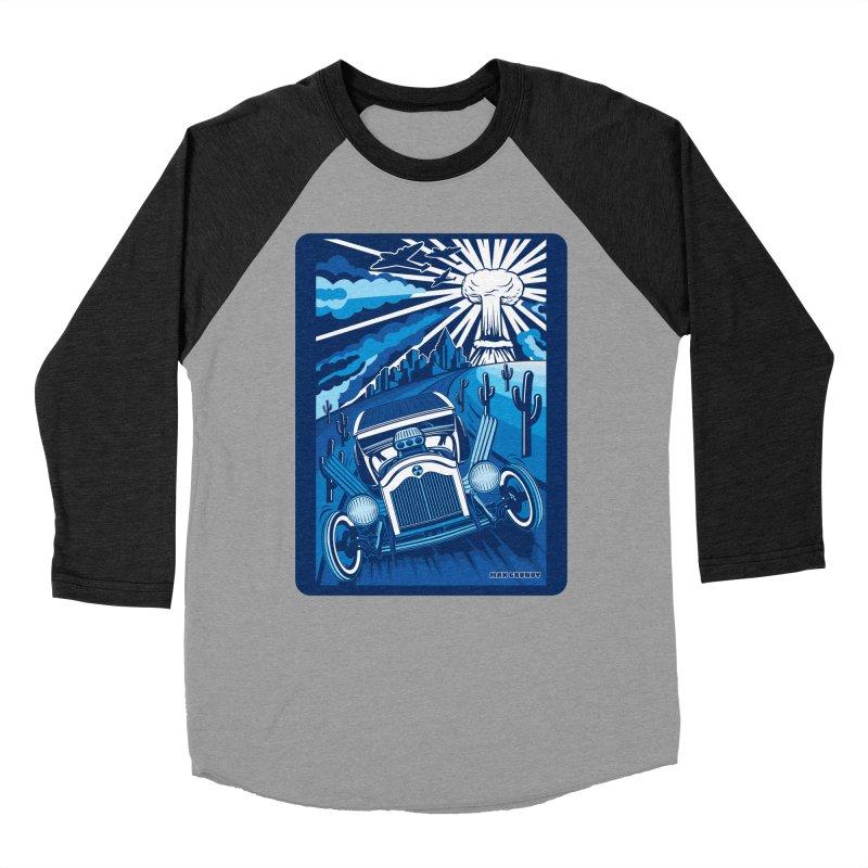 ESCAPE FROM L.A. (blue) Men's Baseball Triblend Longsleeve T-Shirt by Max Grundy Design's Artist Shop
