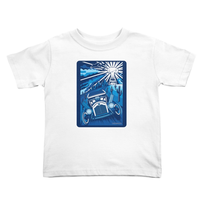 ESCAPE FROM L.A. (blue) Kids Toddler T-Shirt by Max Grundy Design's Artist Shop