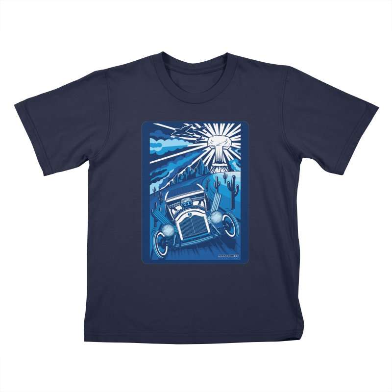 ESCAPE FROM L.A. (blue) Kids T-Shirt by Max Grundy Design's Artist Shop