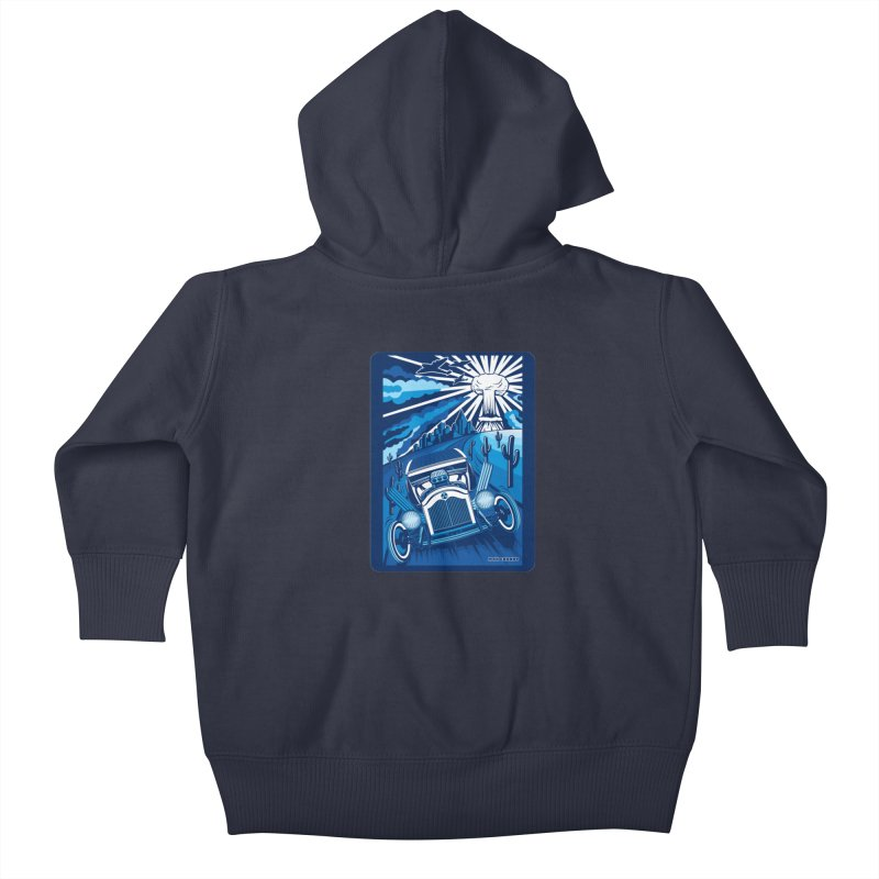 ESCAPE FROM L.A. (blue) Kids Baby Zip-Up Hoody by Max Grundy Design's Artist Shop