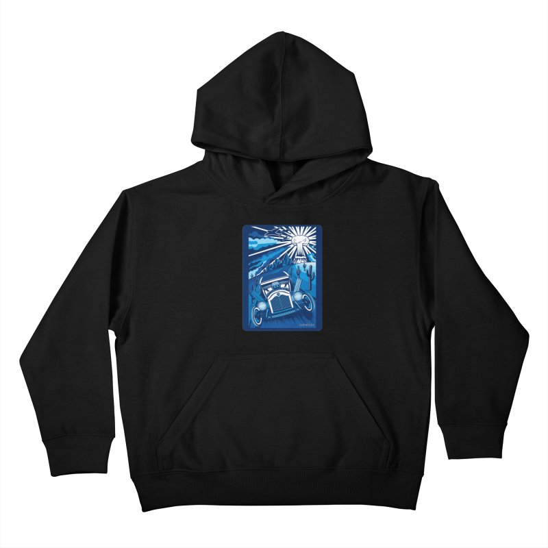ESCAPE FROM L.A. (blue) Kids Pullover Hoody by Max Grundy Design's Artist Shop