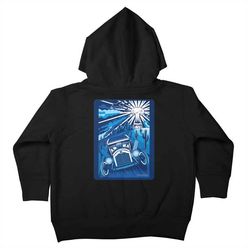 ESCAPE FROM L.A. (blue) Kids Toddler Zip-Up Hoody by Max Grundy Design's Artist Shop