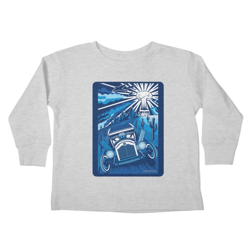 ESCAPE FROM L.A. (blue) Kids Toddler Longsleeve T-Shirt by Max Grundy Design's Artist Shop