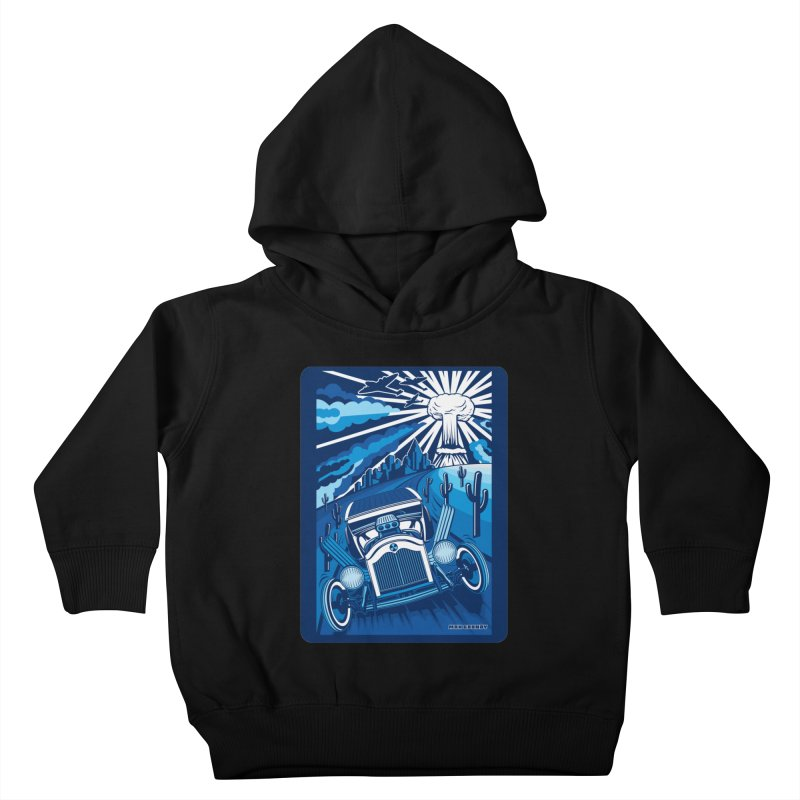ESCAPE FROM L.A. (blue) Kids Toddler Pullover Hoody by Max Grundy Design's Artist Shop