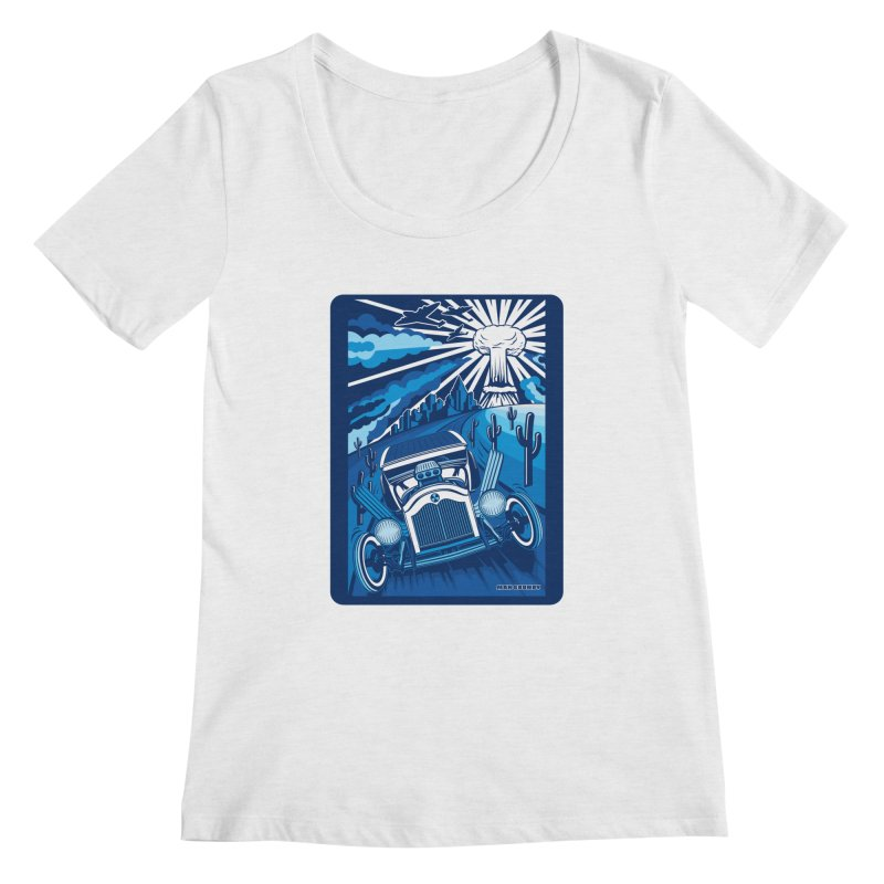 ESCAPE FROM L.A. (blue) Women's Regular Scoop Neck by Max Grundy Design's Artist Shop