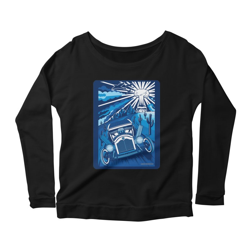 ESCAPE FROM L.A. (blue) Women's Scoop Neck Longsleeve T-Shirt by Max Grundy Design's Artist Shop