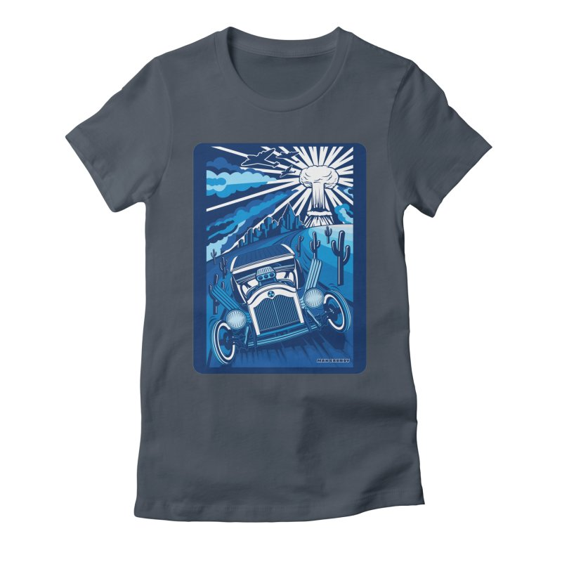 ESCAPE FROM L.A. (blue) Women's T-Shirt by Max Grundy Design's Artist Shop