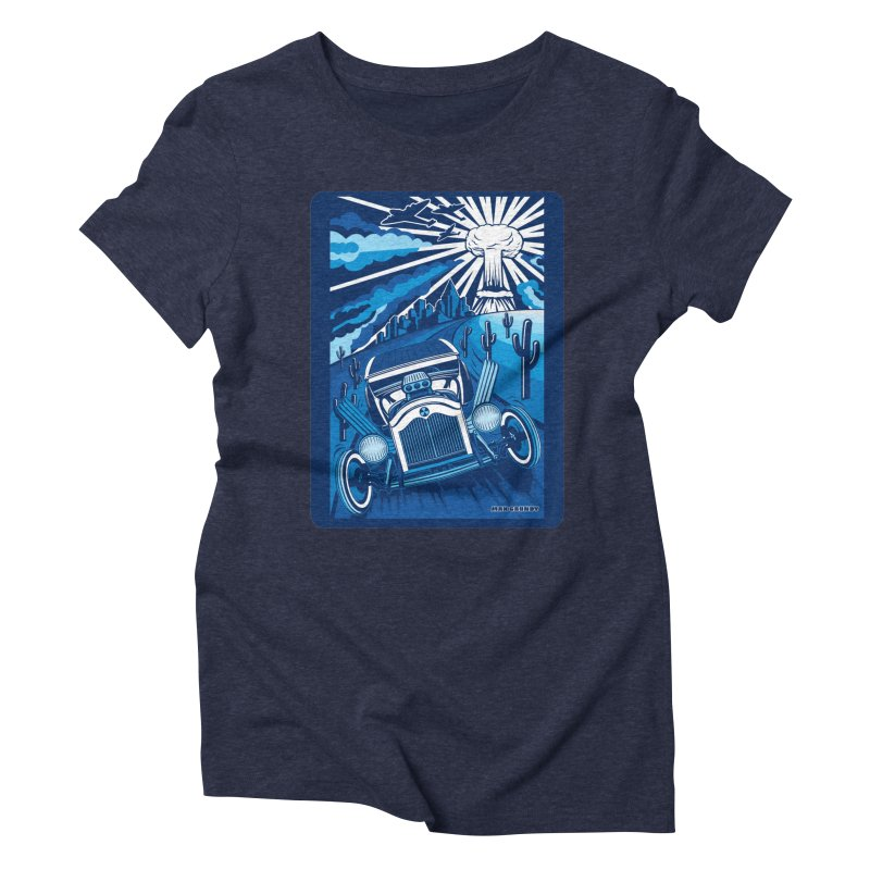 ESCAPE FROM L.A. (blue) Women's Triblend T-Shirt by Max Grundy Design's Artist Shop