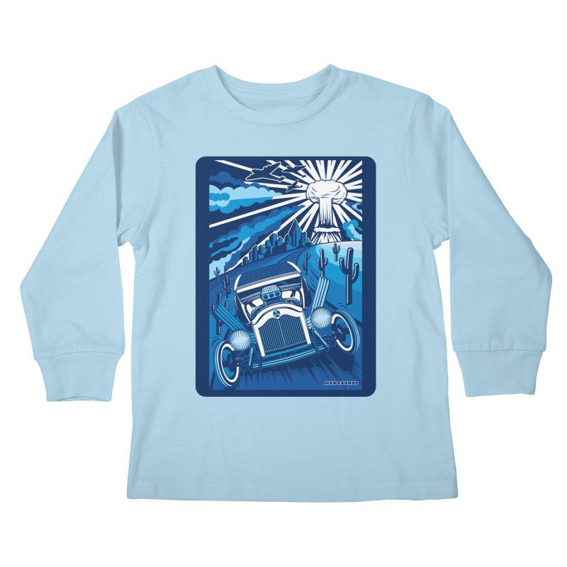 ESCAPE FROM L.A. (blue) Kids Longsleeve T-Shirt by Max Grundy Design's Artist Shop