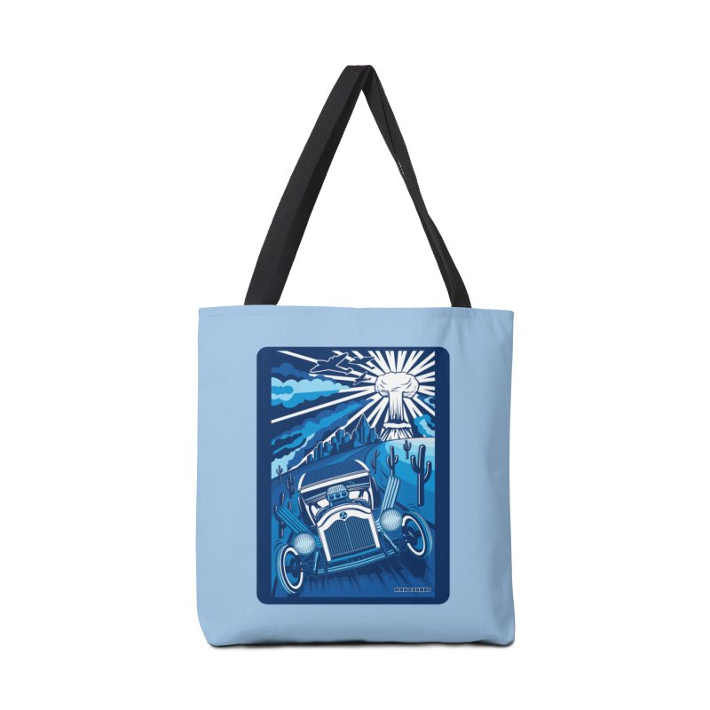 ESCAPE FROM L.A. (blue) Accessories Bag by Max Grundy Design's Artist Shop