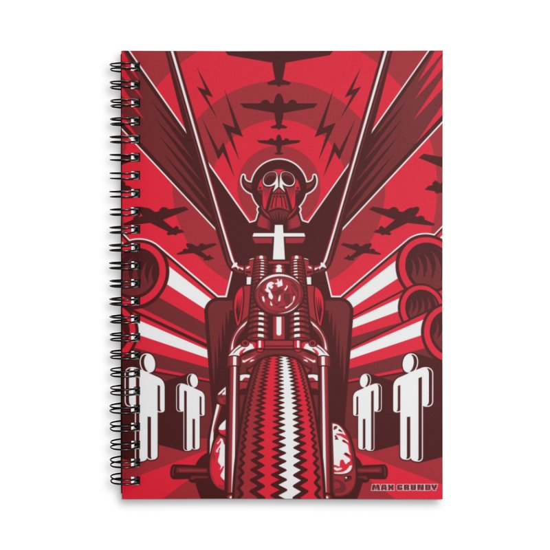 HORSEMAN OF THE APOCALYPSE Accessories Notebook by Max Grundy Design's Artist Shop