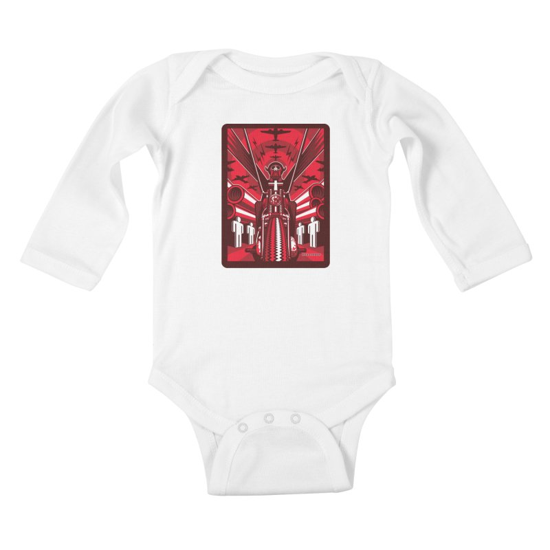 HORSEMAN OF THE APOCALYPSE Kids Baby Longsleeve Bodysuit by Max Grundy Design's Artist Shop