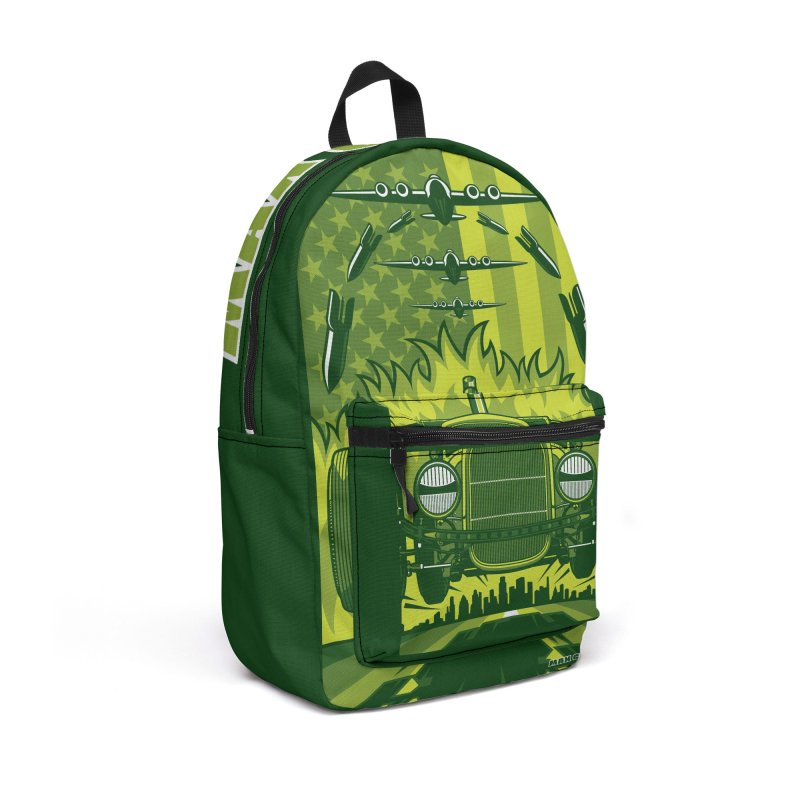 THE GREEN AGENDA (fallout edition) Accessories Backpack Bag by Max Grundy Design's Artist Shop