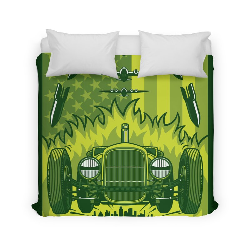 THE GREEN AGENDA (fallout edition) Home Duvet by Max Grundy Design's Artist Shop