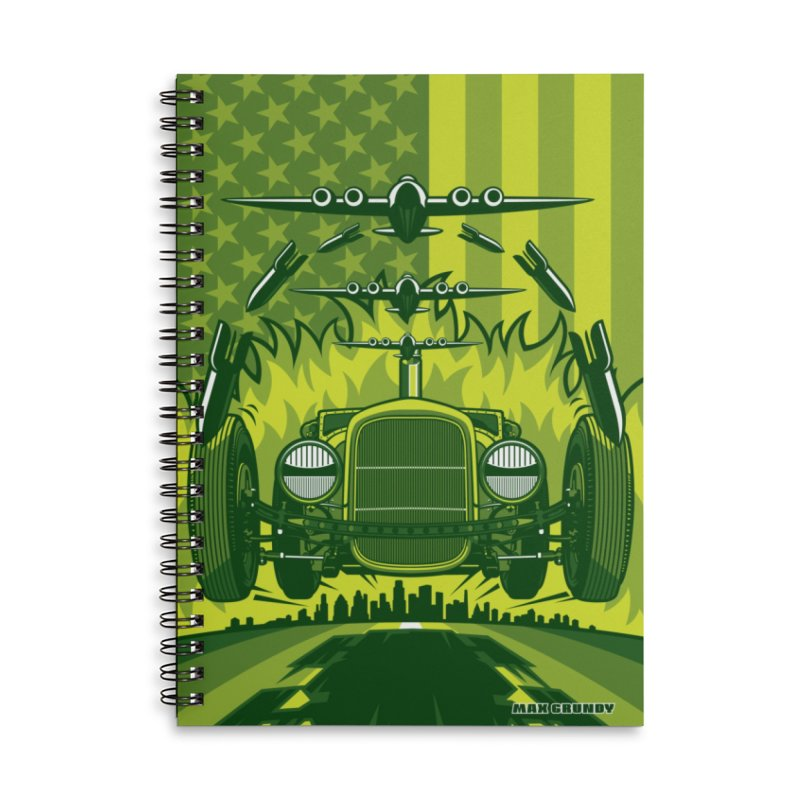 THE GREEN AGENDA (fallout edition) Accessories Notebook by Max Grundy Design's Artist Shop