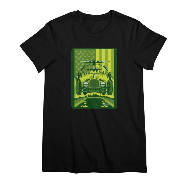 THE GREEN AGENDA (fallout edition) Women's Premium T-Shirt by Max Grundy Design's Artist Shop
