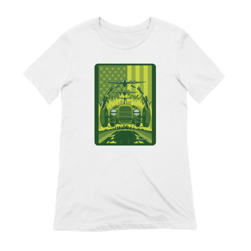 THE GREEN AGENDA (fallout edition) Women's Extra Soft T-Shirt by Max Grundy Design's Artist Shop