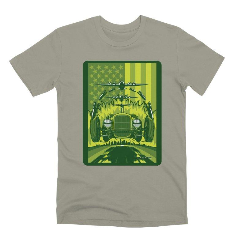 THE GREEN AGENDA (fallout edition) Men's Premium T-Shirt by Max Grundy Design's Artist Shop